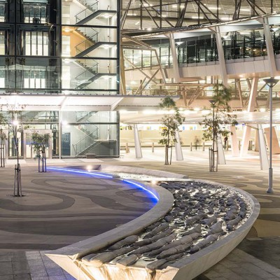 Carved Granite Water Feature - Adelaide Airport | Commercial Ceramics & Stone