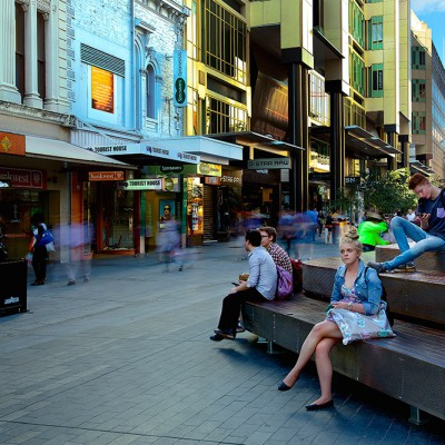 Granite Pavers - Rundle Mall | Commercial Ceramics & Stone - Commercial Building Projects